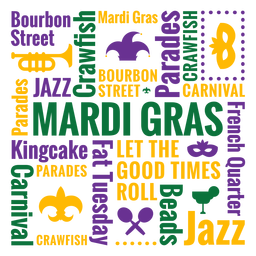 Composición de cotización de insignia de mardi gras