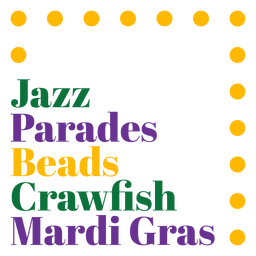 Mardi gras holiday badge
