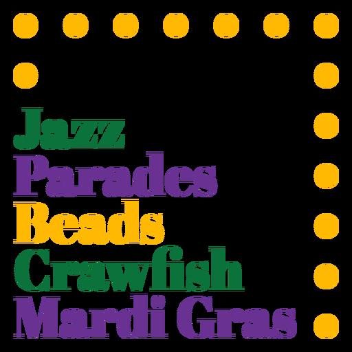 Mardi gras holiday badge