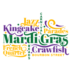 Mardi gras quotes composition badge
