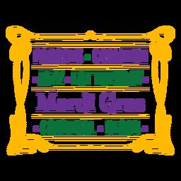 Mardi Gras Zeichen Abzeichen