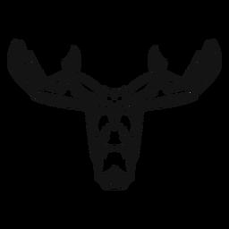 Moose head high contrast