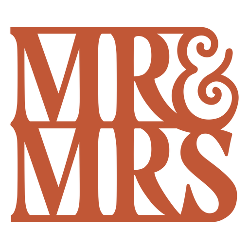 Mr and mrs quote badge