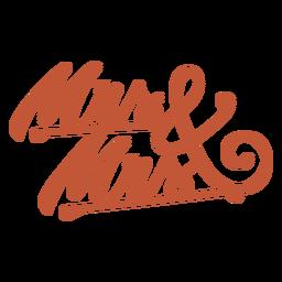 Letras da Sra. E Sra.