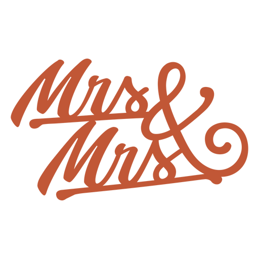 Mrs and mrs lettering