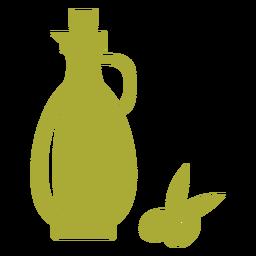 Olive oil jug green