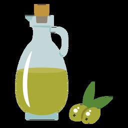 Olive oil jug illustration