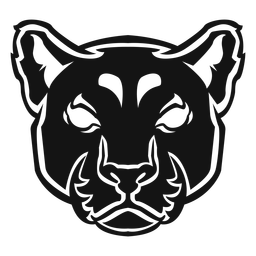 Panther head de alto contraste