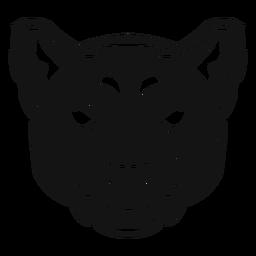 Pantherkopf kontrastreich