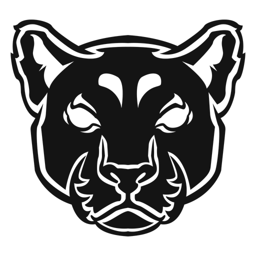 Panther head high contrast Transparent PNG