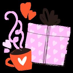 Doodle presente y café