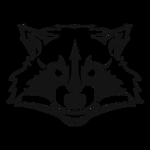 Raccoon head high contrast