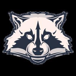 Logotipo da cabeça de guaxinim