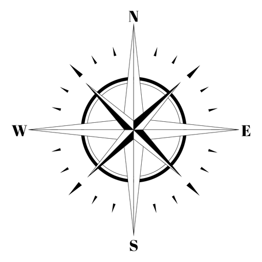 Rose of the winds compass