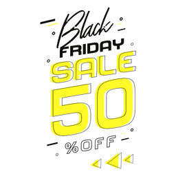 Sale black friday badge