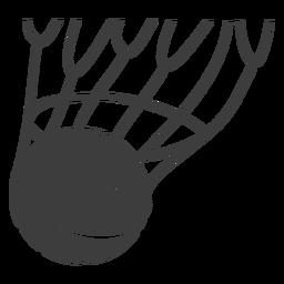 Puntuación de corte de pelota de baloncesto