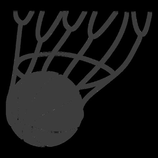 Score basketball ball cut out Transparent PNG