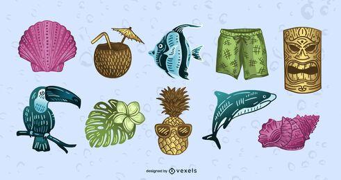 Conjunto de elementos de Hawaii