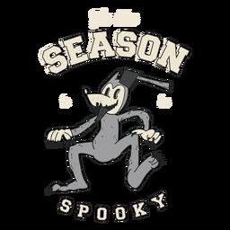 Temporada para ser emblema retrô assustador