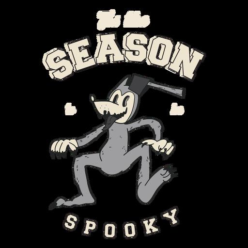 Season to be spooky retro badge