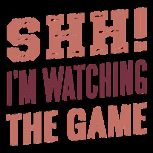 Shh, estoy viendo las letras del juego