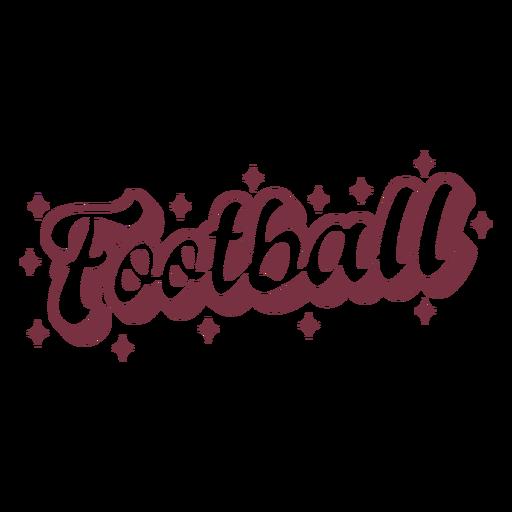 Letras de fútbol americano brillante