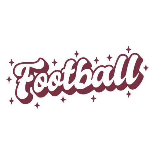 Sparkly american football lettering