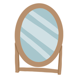 Espejo de pie plano