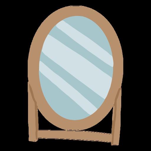 Stand mirror flat