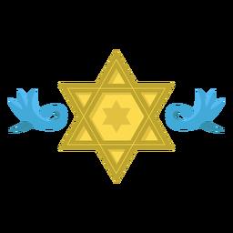 Ilustração da decoração da estrela de David