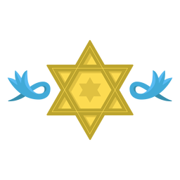 Star of david decorations illustration