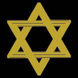 Star of david jewish flat