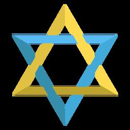 Estrella de david judía ilustración