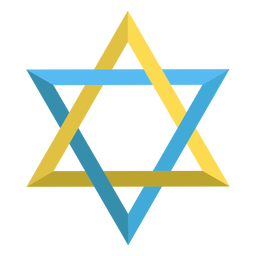 Star of david jewish illustration