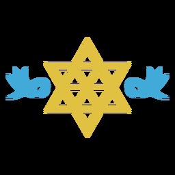 Estrella de david judaísmo plano