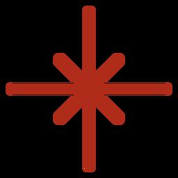 Trazo de fuegos artificiales en forma de estrella