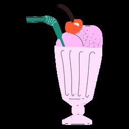 Doodle de batido de fresa