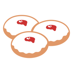 Piso de pastelería judía sufganiot