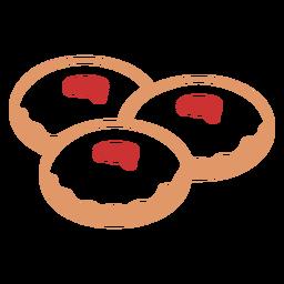 Sufganiot jewish pastry flat