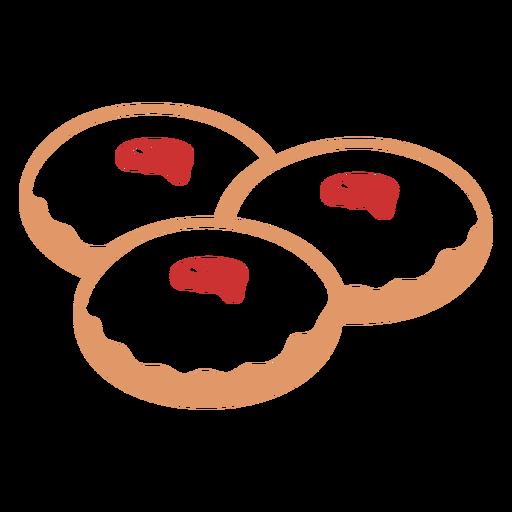 Piso de pastelería judía sufganiot Transparent PNG