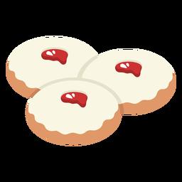 Sufganiot jewish pastry illustration