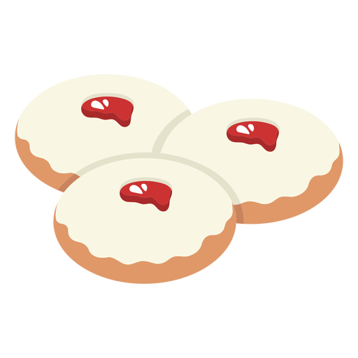 Ilustración de pastelería judía sufganiot
