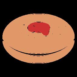 Sufganiyah jewish pastry flat