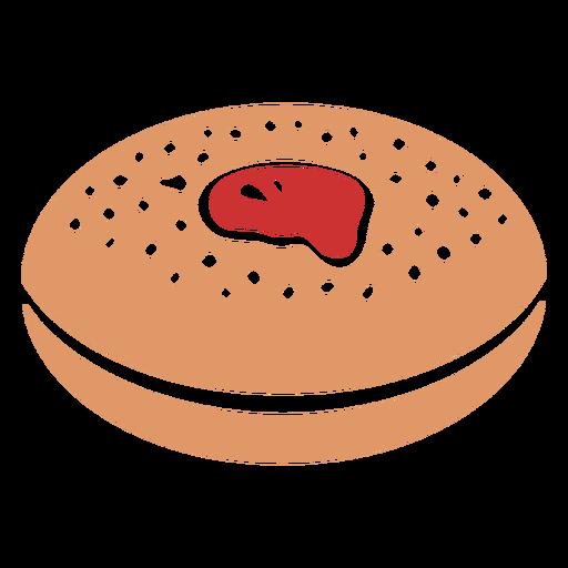 Plano de pastelería judía sufganiyah Transparent PNG