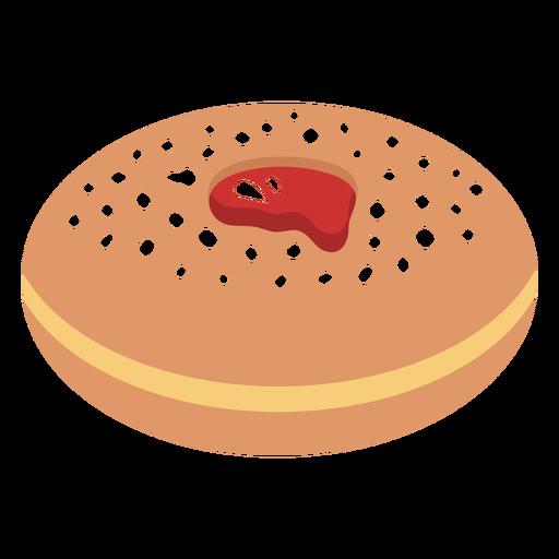Ilustración de pastelería judía sufganiyah