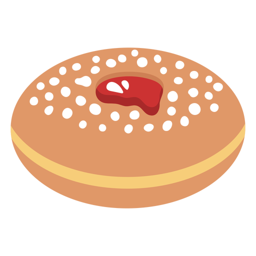 Sufganiyah jewish pastry illustration