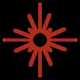 Traço de símbolo de raios solares