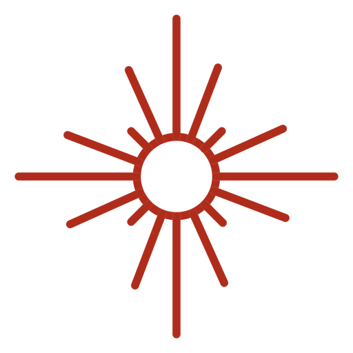 Sun rays symbol stroke