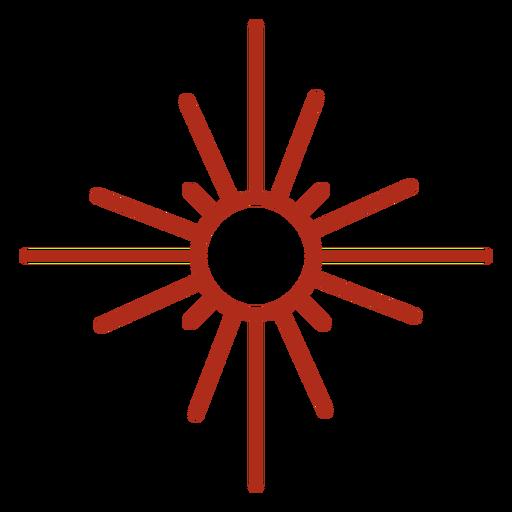 Trazo de símbolo de rayos de sol