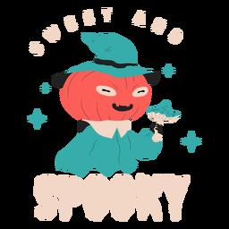Crachá de criatura doce e assustadora
